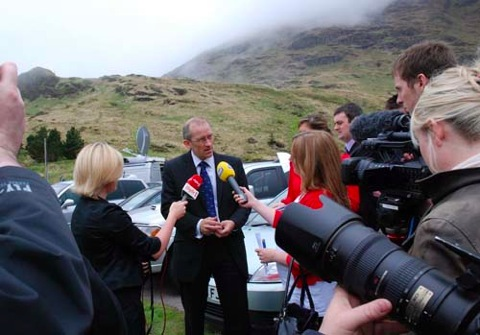 Press conference held at the 'Rest and be Thankful' in Argyll to appeal for information relating to Suzanne's disappearance.