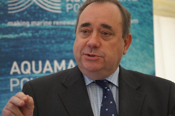 The Edinburgh Reporter First Minister during speech Aquamarine
