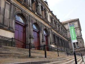 The Edinburgh Reporter Museum steps outside
