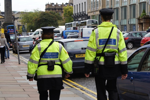 The Edinburgh Reporter Parking attendants from the rear
