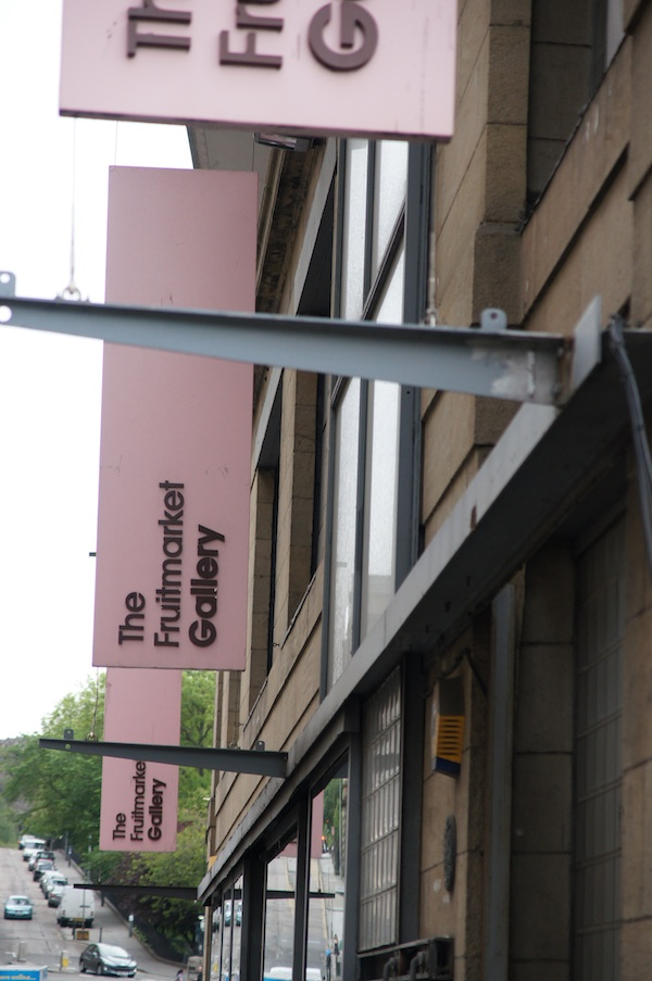 Front facade and sign at Fruitmarket Gallery Edinburgh before renovations