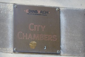 TER CIty chambers sign brass