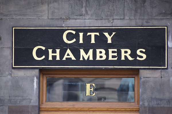 TER City Chambers sign