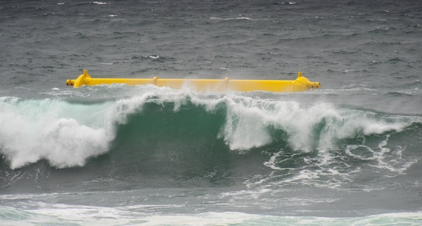 Aquamarine Power's Oyster 800 wave energy machine in operation #1