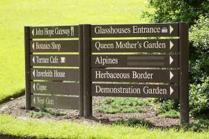 TER sign at Botanics