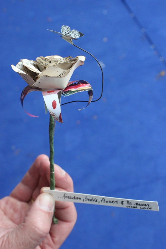 Mystery Paper Sculptures dropped off at Edinburgh International Book Festival_email