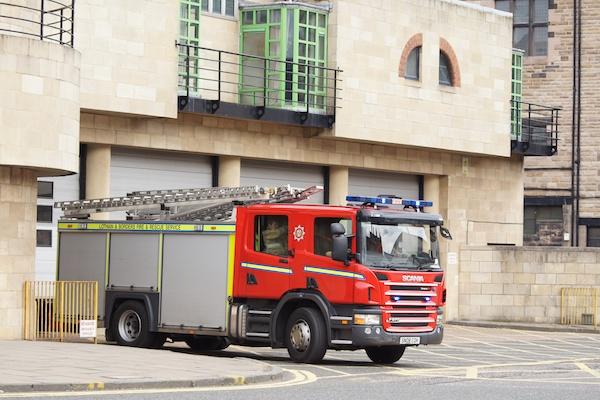 The Edinburgh Reporter Fire Engine at Tollcross Fire Station
