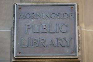 TER Morningside Library sign