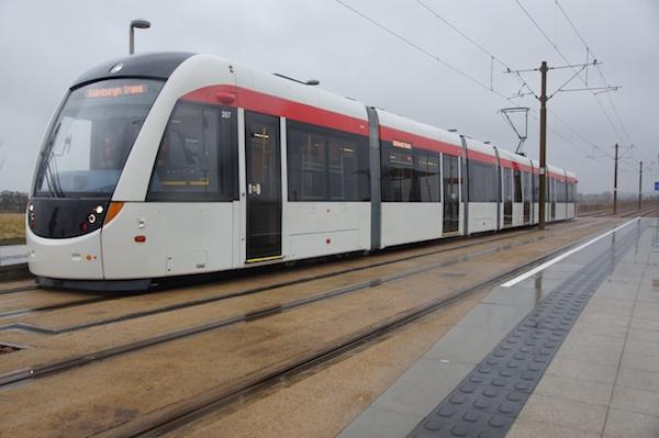 Edinburgh Tram facing left