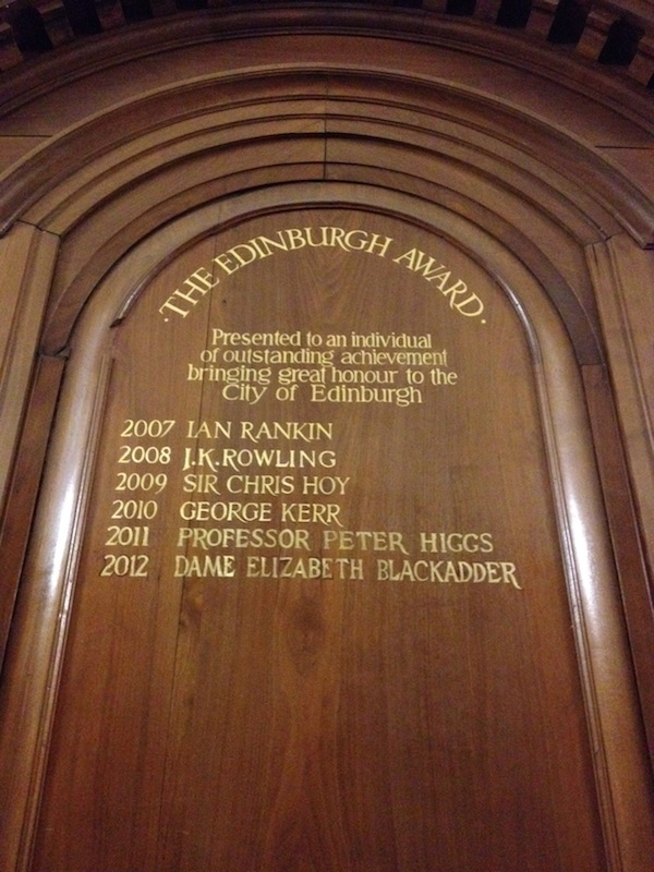 TER Edinburgh Award board