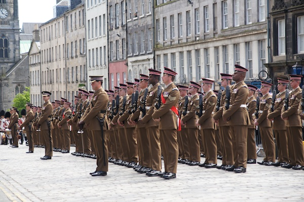 video scots guards given the freedom of the city the. Black Bedroom Furniture Sets. Home Design Ideas