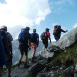 volunteers and scouts from SMESU on a previous expedition to swiss alps