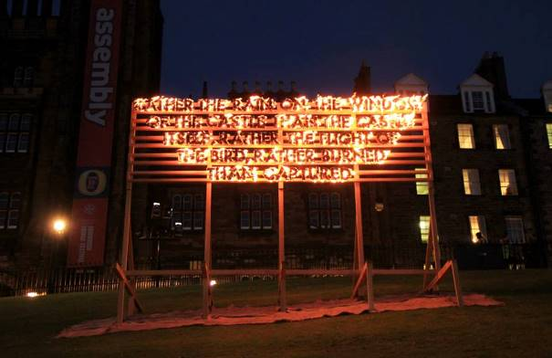 Parley Fire Poem by Robert Montgomery