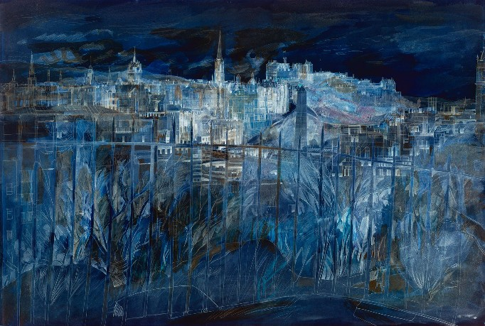Edinburgh at Night by Richard Demarco