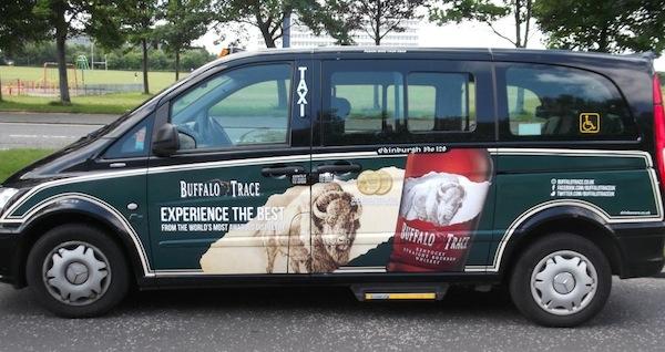 Hi-Spirits branded taxi
