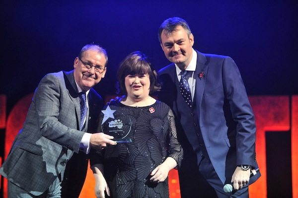 Mandatory Credit: Pic by Rob McDougallRadio Forth Awards 2013 at the Usher Hall, EdinburghAndy Gray, Susan Boyle and Grant Stottwww.RobMcDougall.com07856 222 103info@robmcdougall.comCopyright Rob McDougall 2013 No sales or syndication