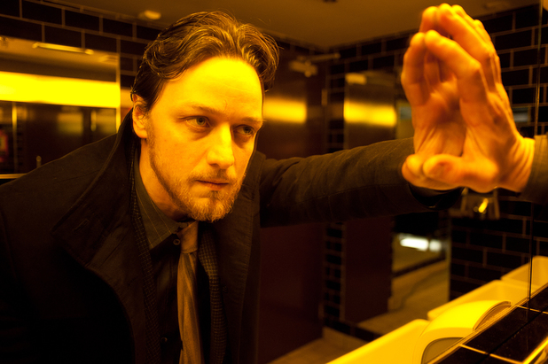 Best Actor nominee James McAvoy having a moment of reflection in the Edinburgh-set Filth.