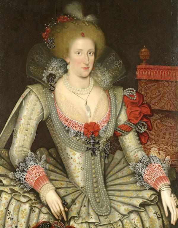 Attributed to Marcus Gheeraerts the Younger, 'Anne of Denmark', 1614. Royal Collection Trust/ (C) Her Majesty Queen Elizabeth II 2013.