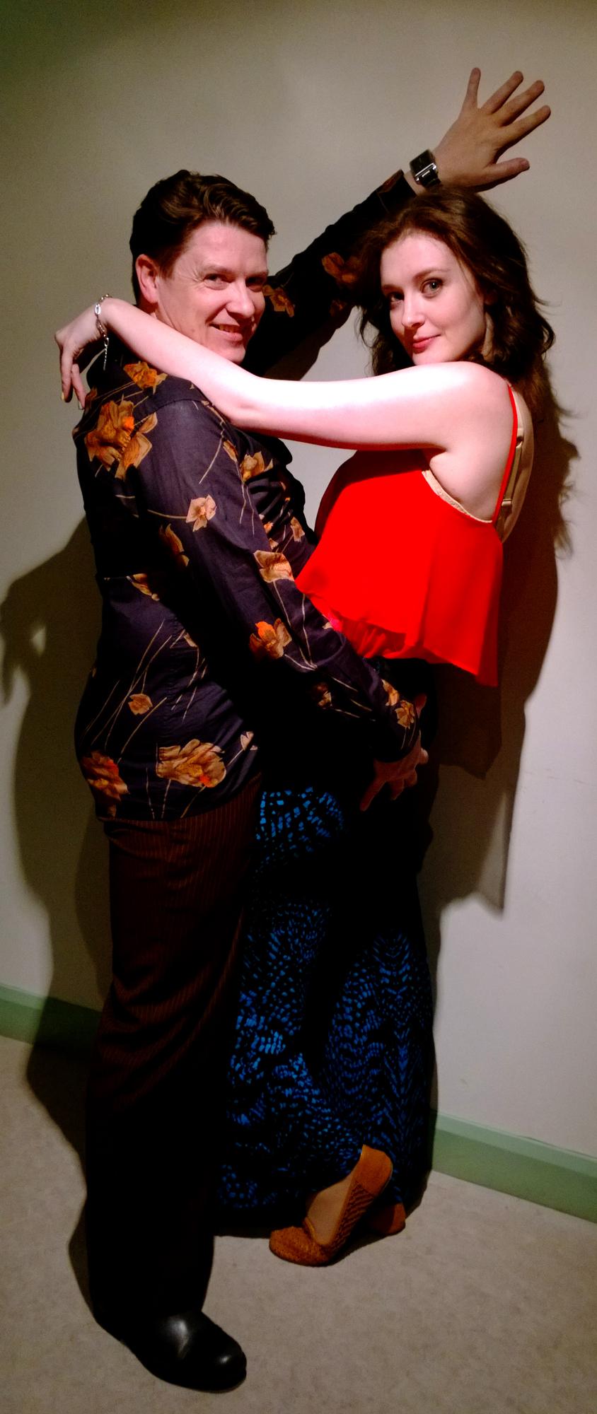 Kenneth Pinkerton is Spencer and Josephine Heinemeier is Lorraine - the Boogie Nights Club singers