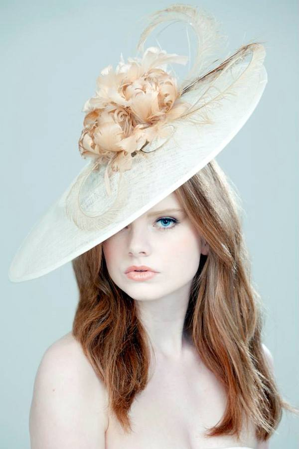 Rose Young Millinery Ivory Sinamay