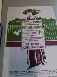A Suffragette poster