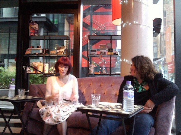 Anne Donovan and Angela Jackson at Looking Glass Books