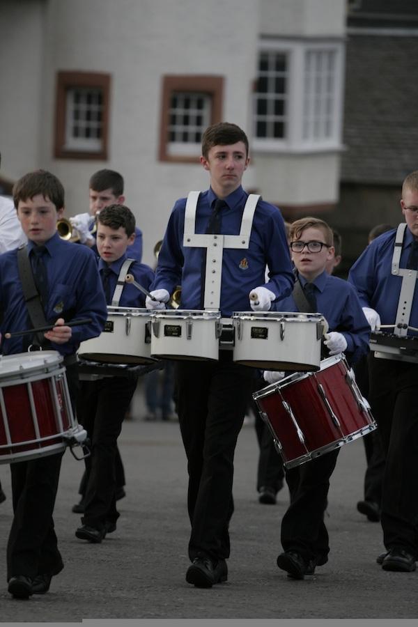 Beating Retreat performing on Edinburgh Castle's Esplanade