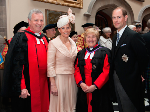 Group shot with Earl and Countess of Wessex