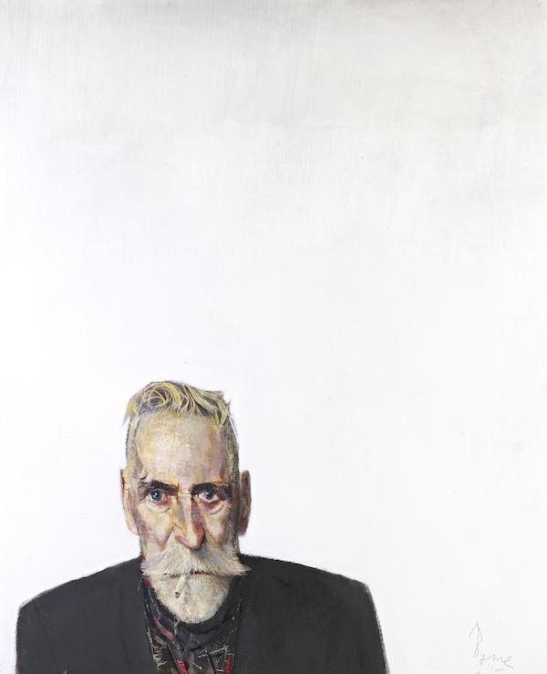 John Byrne - Self Portrait on white