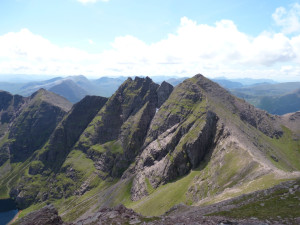 """The An Teallach ridge, Dundonnell, in """"the great wilderness""""."""