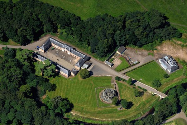 Arial image of Stableyard area at Dalkeith Country Park