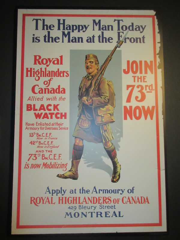 Canadian recruitment poster
