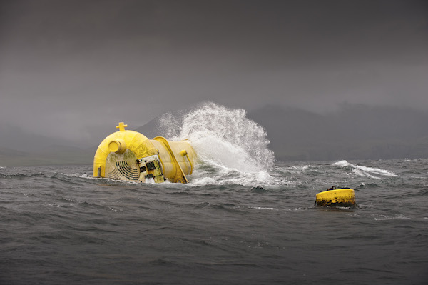 Aquamarine Power's Oyster 800 wave energy converter in operation #5