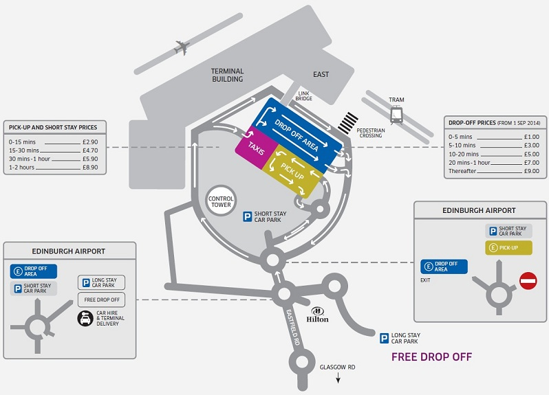 Map Edinburgh City Centre Car Parks