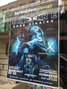 Saltire poster Forbidden Planet
