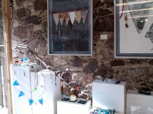 stained glass bunting at smeaton