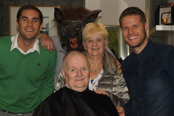 TER Councillor Ronnie Cairns charity head shave 41