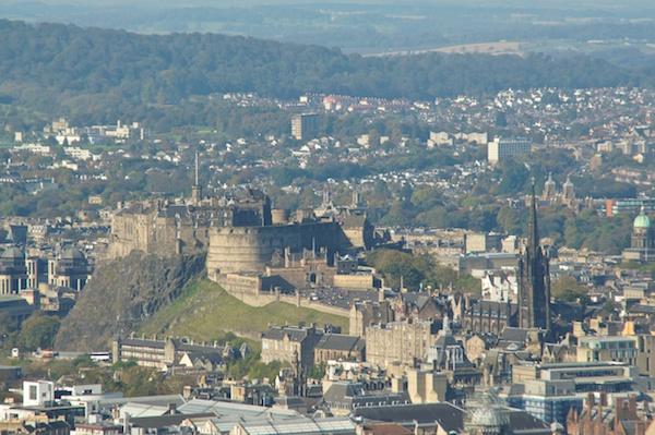 TER Edinburgh Castle from Arthur's Seat - centre of photo