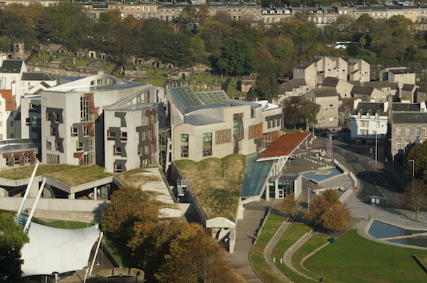 TER Holyrood from Arthur's Seat