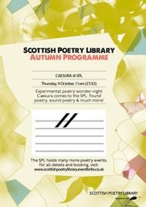 caesura at scottish poetry library