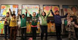 syrian art exhibition publicity photo