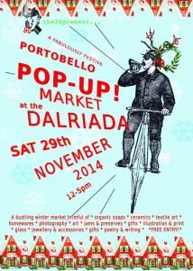 Dalriada Pop Up Christmas Market poster