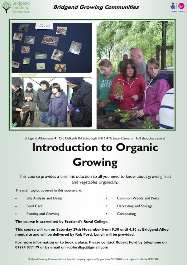 Introduction to Organic Growing Flyer