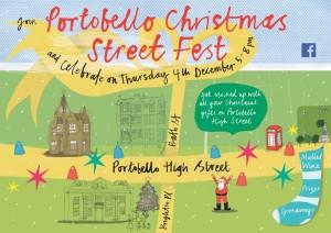 Portobello Christmas Street Fest poster