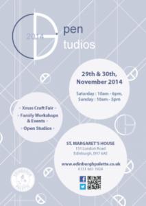 st margaret's house Christmas open studios poster
