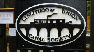 Linlithgow Canal society sign