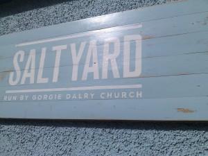 Salt Yard outside wall sign