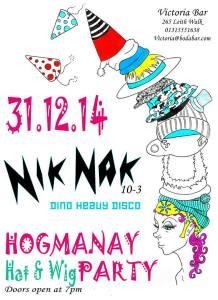Victoria Hogmanay party with Nik Nak