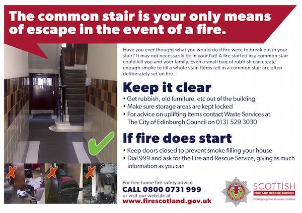 common stairs poster flyer Edinburgh
