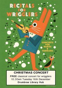 recitals for wrigglers december poster